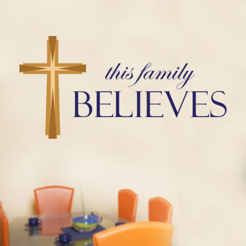 View Product This Family Believes Wall Decal