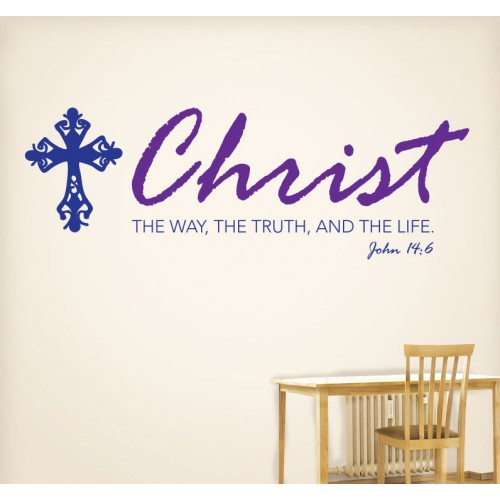 View Product Christ The Way The Truth The Life Wall Decal