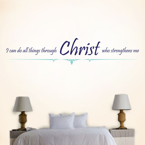 View Product Christ Strengthens Me Wall Decal