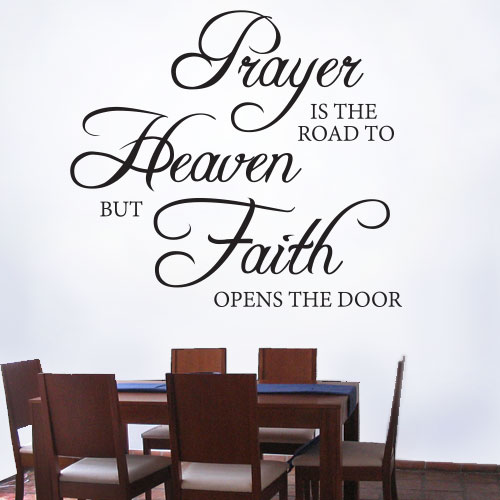 View Product Prayer Is The Road To Heaven Wall Decal