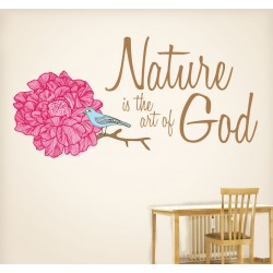 Nature Is The Art Of God Wall Decal