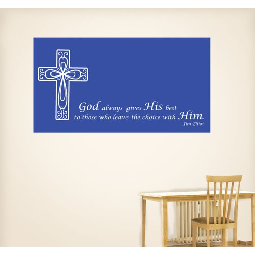 View Product God Always Gives Wall Decal