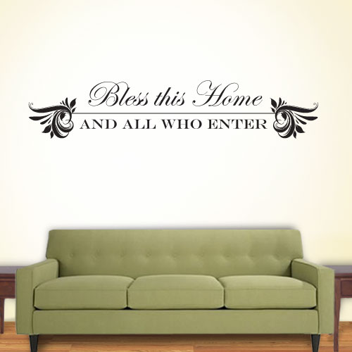 View Product Bless This Home Wall Decal