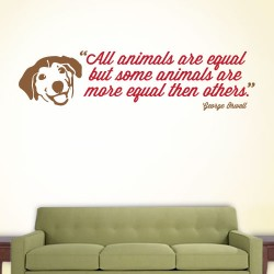 Some Animals Equal Wall Decal