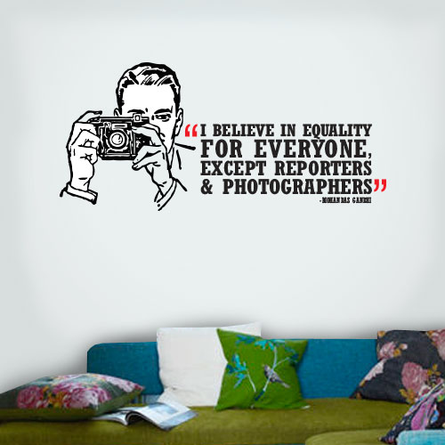 View Product Equality Except Wall Decal