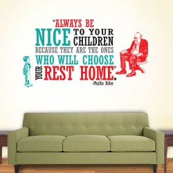 Nice Children Rest Home Wall Decal