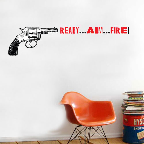 View Product Ready Aim Fire Wall Decal