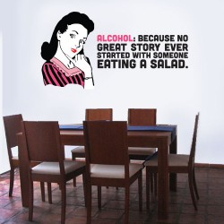 Alcohol Story Salad Wall Decal