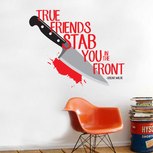 View Product Stab In Front Wall Decal
