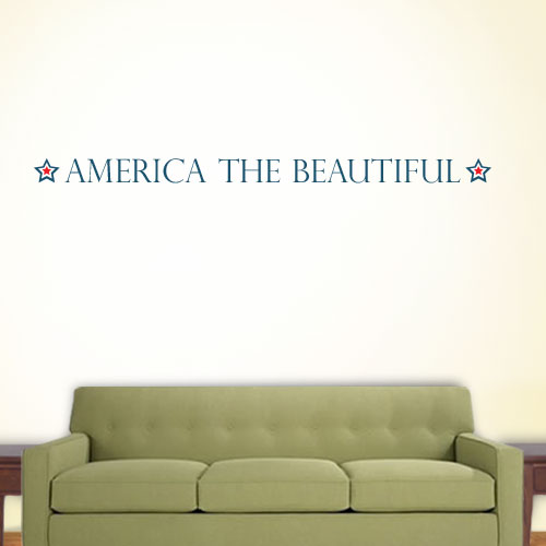 View Product America The Beautiful Wall Decal