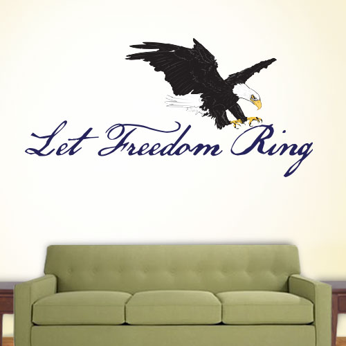 View Product Let Freedom Ring Wall Decal