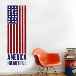 Flag America Wall Decal