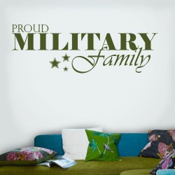 Proud Military Family Wall Decal