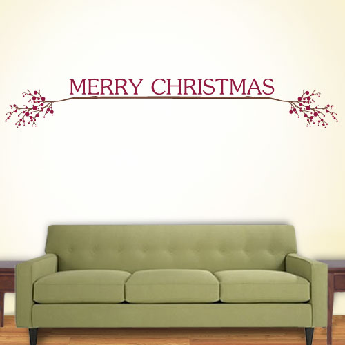 View Product Merry Christmas Wall Decal