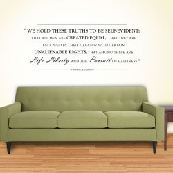 Life Liberty Pursuit Wall Decal