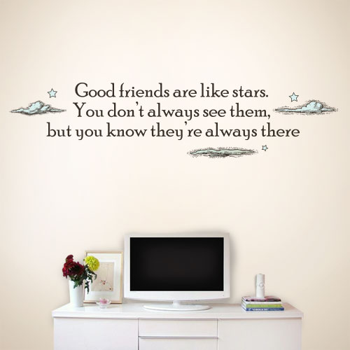 View Product Good Friends Are Like Stars Wall Decal