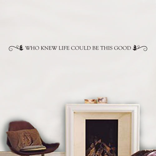 View Product Who Knew Life Could Be This Good Wall Decal