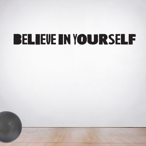View Product Believe In Yourself Wall Decal