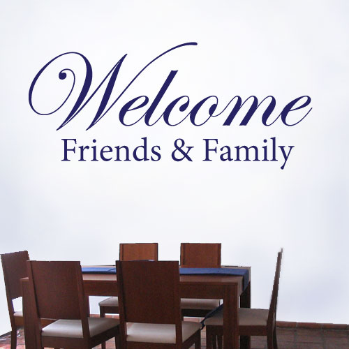 View Product Welcome Friends Wall Decal