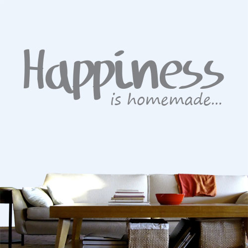 View Product Happiness Is Homemade Wall Decal