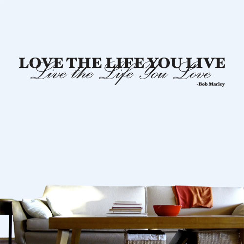 View Product Love The Life Wall Decal