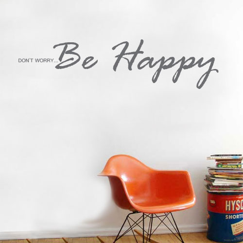 View Product Dont Worry Be Happy Wall Decal