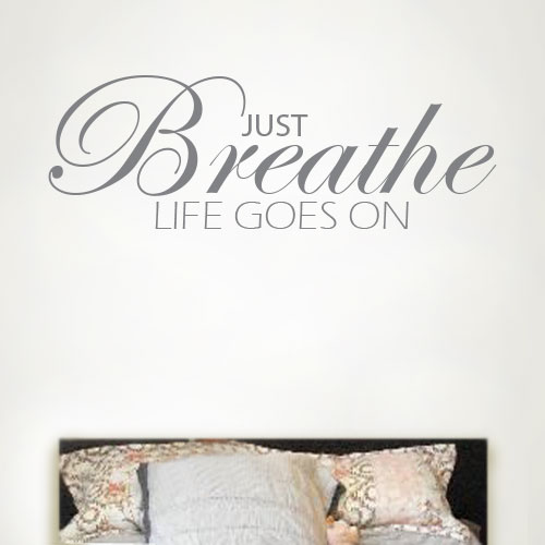 View Product Just Breathe Wall Decal
