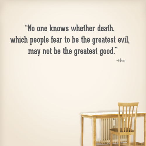 View Product No One Knows About Death Wall Decal