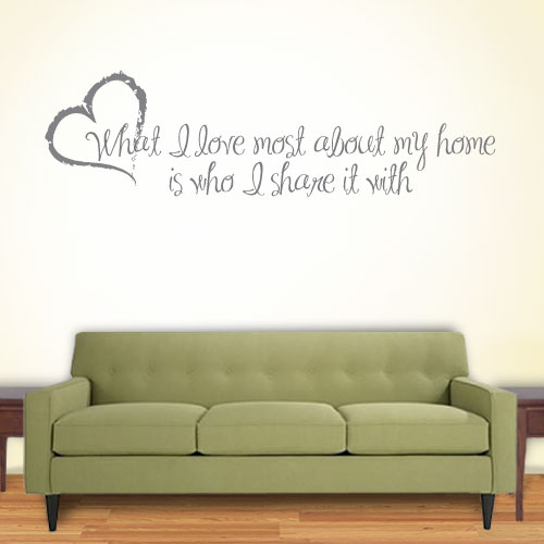 View Product What I Love Wall Decal