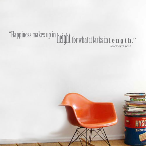 View Product Happiness Makes Wall Decal