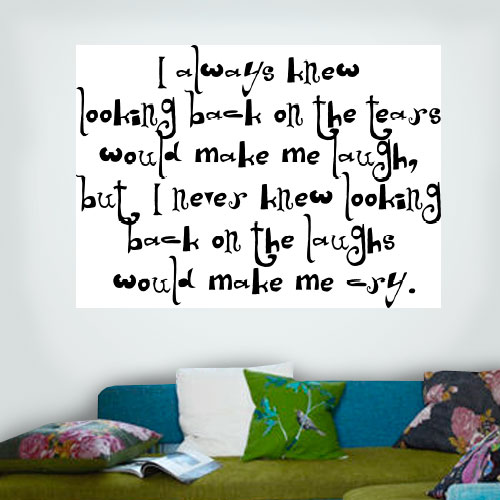 View Product I Always Knew Wall Decal
