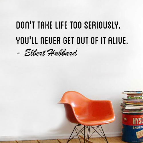 View Product Dont Take Life Wall Decal