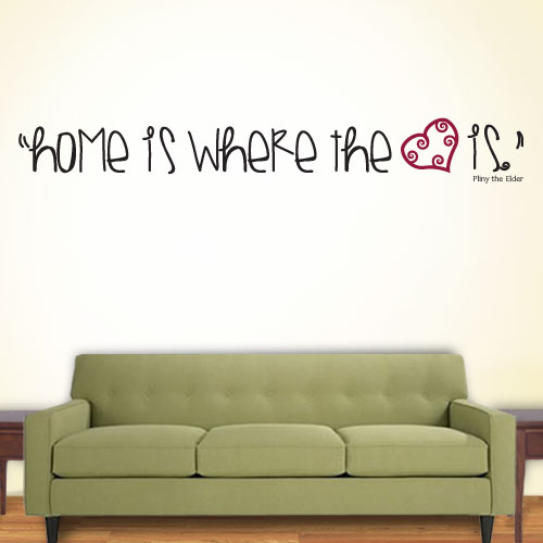 View Product Home Where The Heart Is Wall Decal