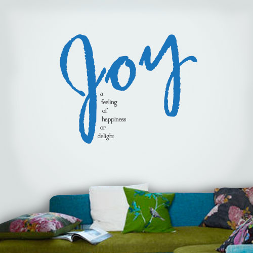 View Product Joy A Feeling Wall Decal