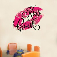 Kiss The Cook Wall Decal