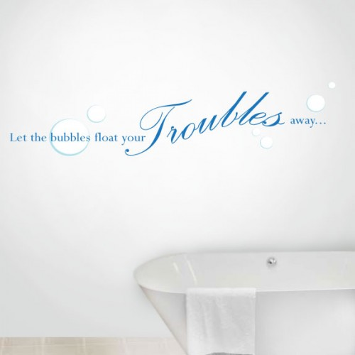 View Product Let The Bubbles Wall Decal