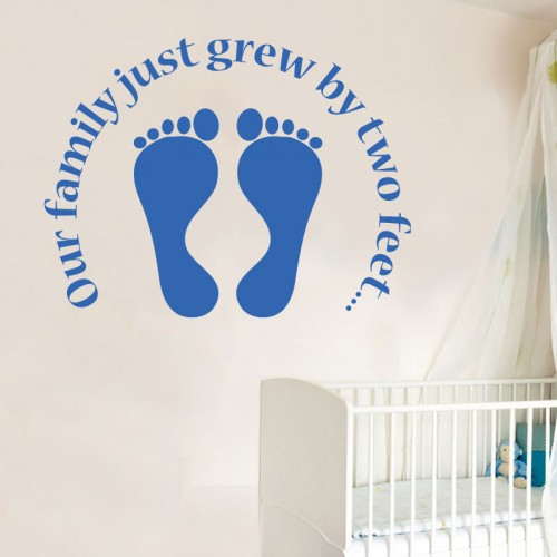 View Product Our Family Just Grew Wall Decal