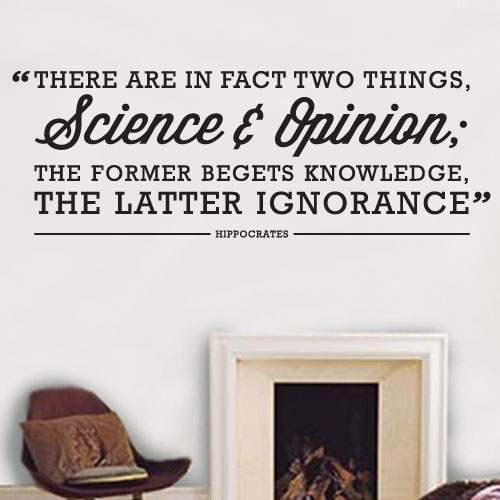 View Product Science Opinion Wall Decal