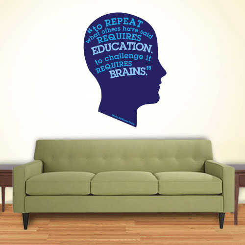 View Product Education Requires Brains Wall Decal