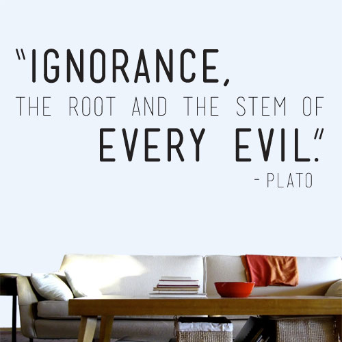 View Product Ignorance Every Evil Wall Decal
