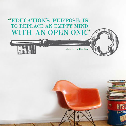 View Product Education Open Mind Wall Decal
