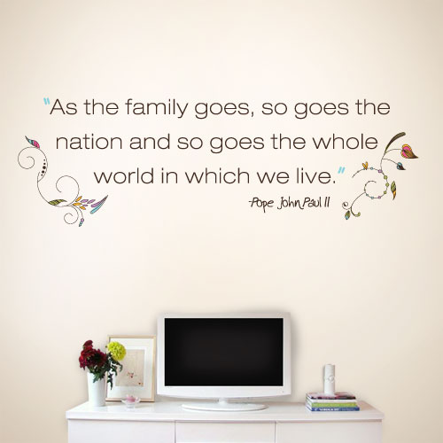 View Product Family Goes Wall Decal