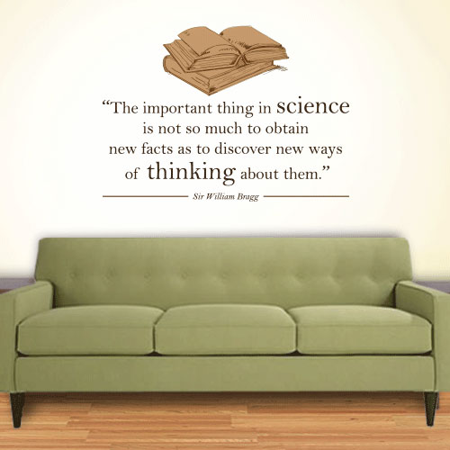 View Product Science New Facts Wall Decal