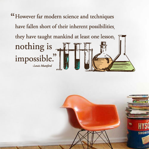 View Product Modern Science Wall Decal