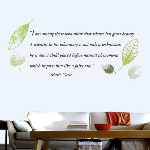View Product Science Beauty Wall Decal
