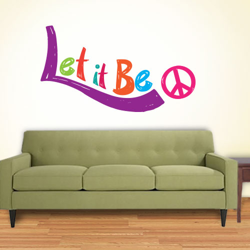View Product Let It Be Wall Decal