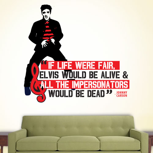 View Product Elvis Impersonators Wall Decal