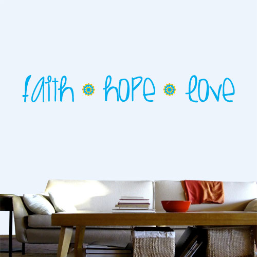 View Product Faith Hope Love Wall Decal