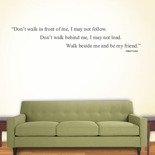 View Product Dont Walk In Wall Decal