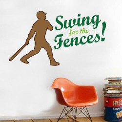 Swing For The Fences Wall Decal
